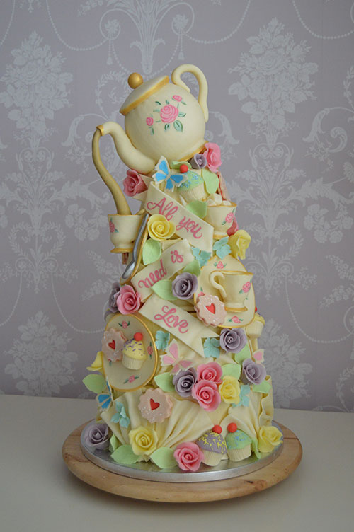 teapot hull wedding cakes