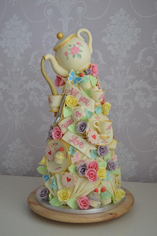 teapot hull wedding cakes