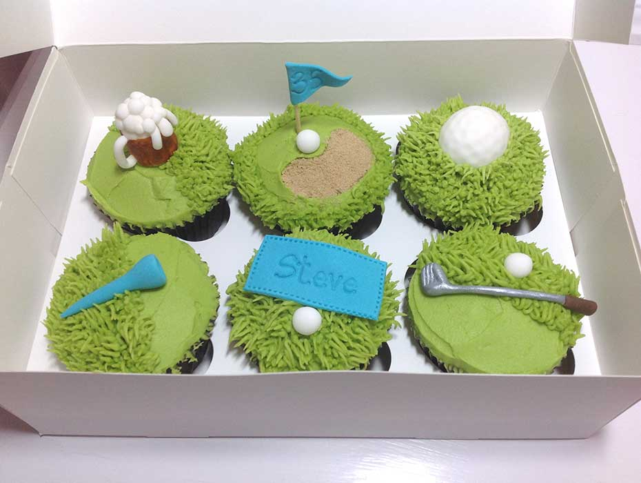 golf cupcakes hull east Yorkshire cakes