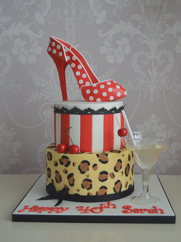 Ladies 40th cake