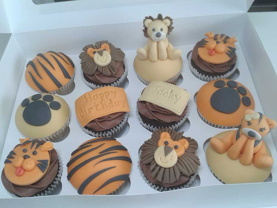 Hull city tiger cupcakes